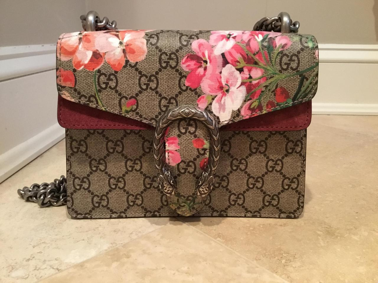 2db6b5b7974 Gucci Dionysus Womens Gg Blooms Mini Floral Leather Shoulder Bag Replica  Trusted Dealers