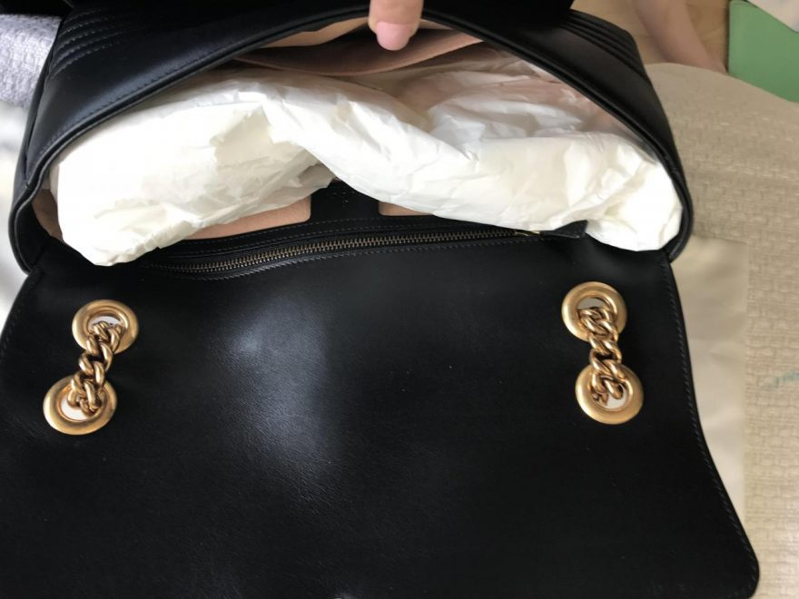 b228d784a4a Gucci Marmont Gg Medium Black Leather Shoulder Bag Guide Trusted ...
