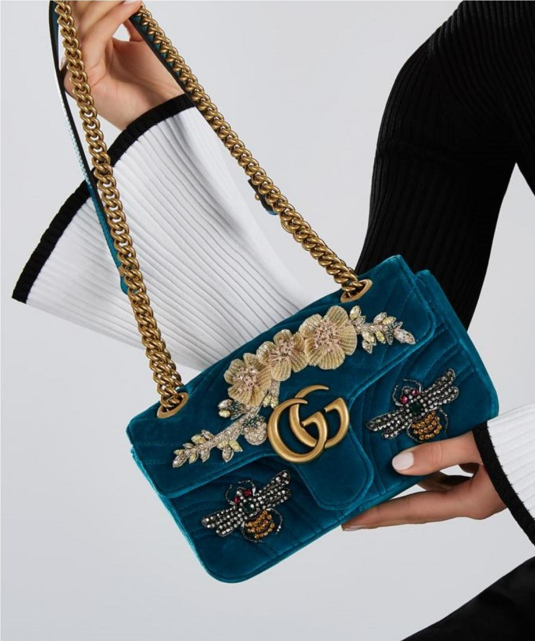 fbcc9970bb2 Gucci Marmont New Gg Mini Embroidered Velvet Shoulder Bag Replica Handbag  Suppliers